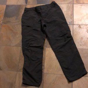 North face men's grey nylon pants. GUC!